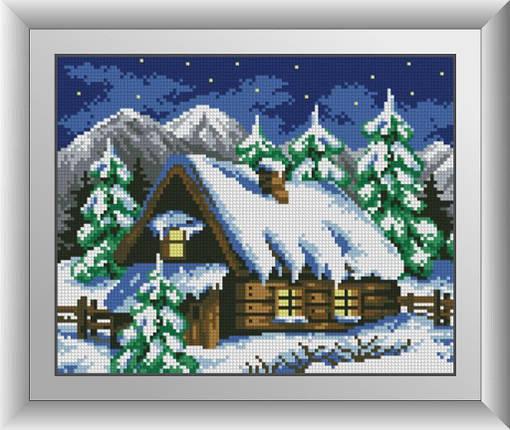 30061 Набор алмазной мозаики Зимний домик, фото 2