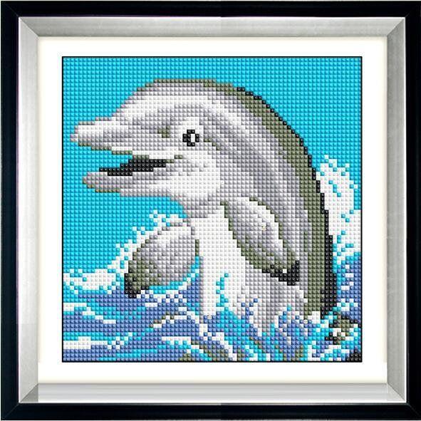 30065 Набор алмазной мозаики Дельфинчик