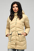 Куртка зимняя женская Песочного цвета