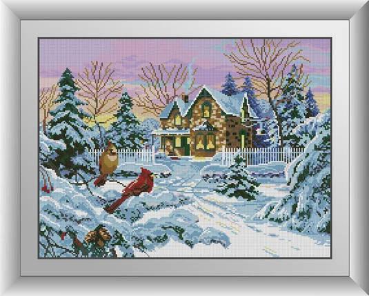 30071 Набор алмазной мозаики Зимнее воспоминание, фото 2