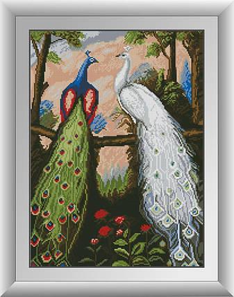 30073 Набор алмазной мозаики Дружба павлинов, фото 2