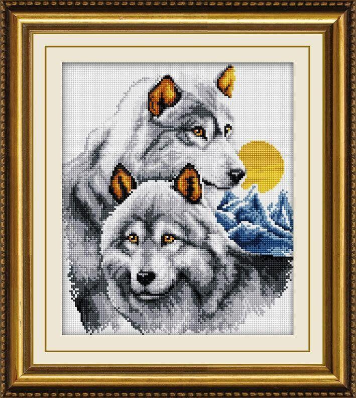 30079 Набор алмазной мозаики Пара волков