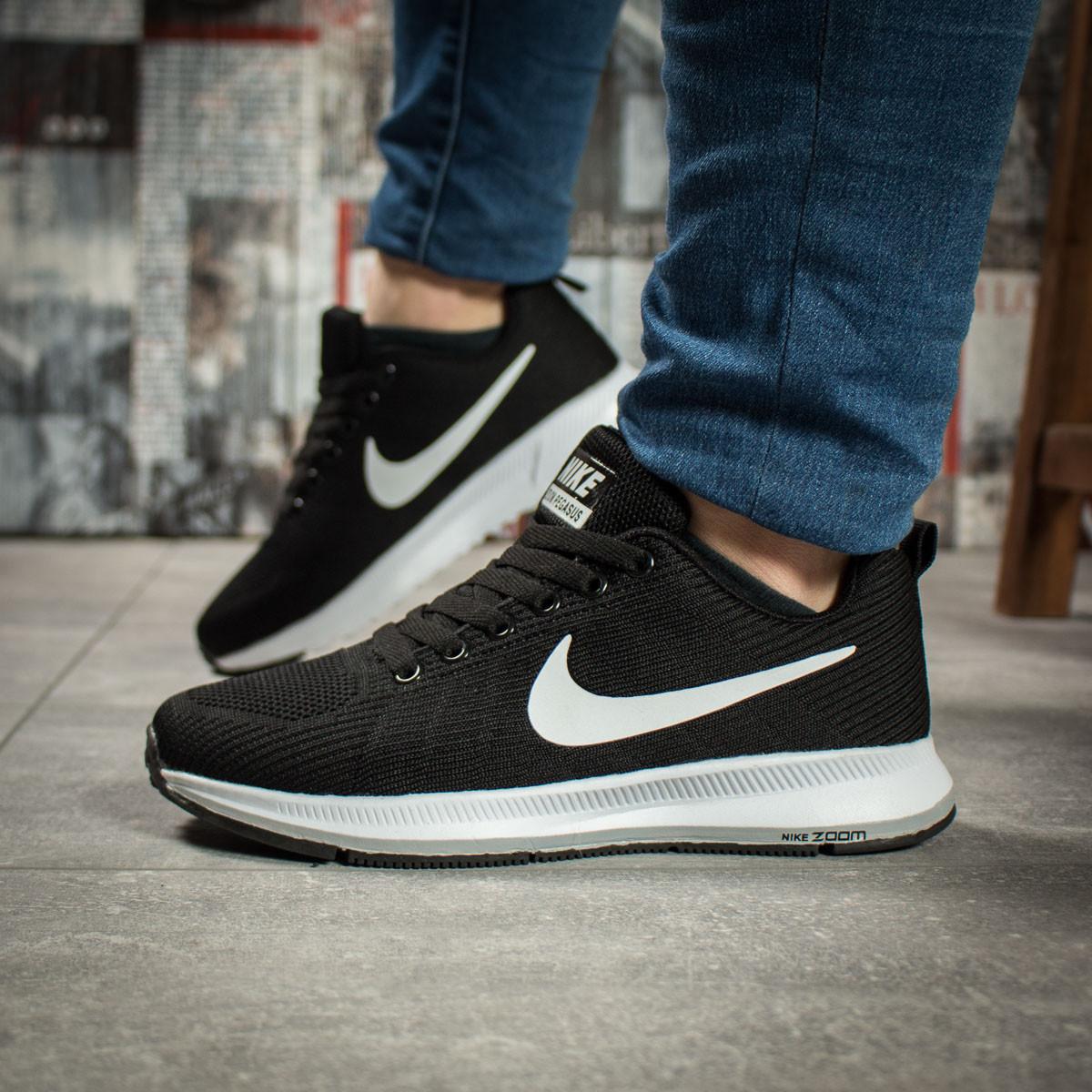 Кроссовки женские 16021, Nike Zoom Pegasus, черные ( 37 38  )