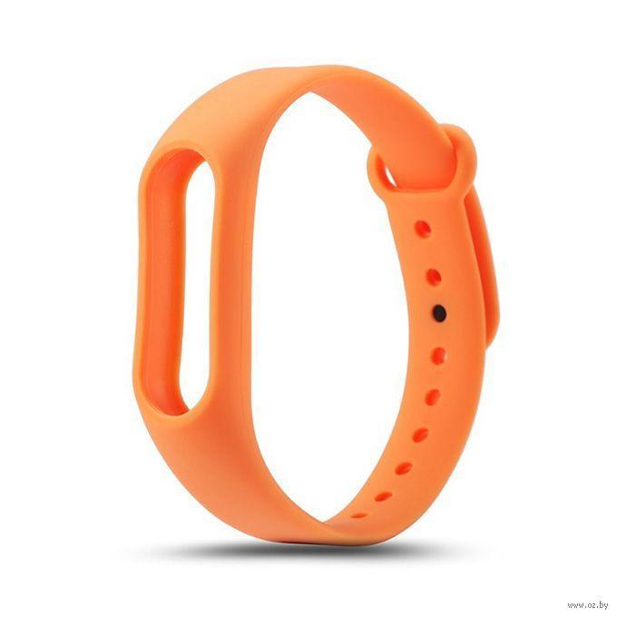 Ремешок для фитнес трекера Xiaomi Mi Band 2 Оранжевый