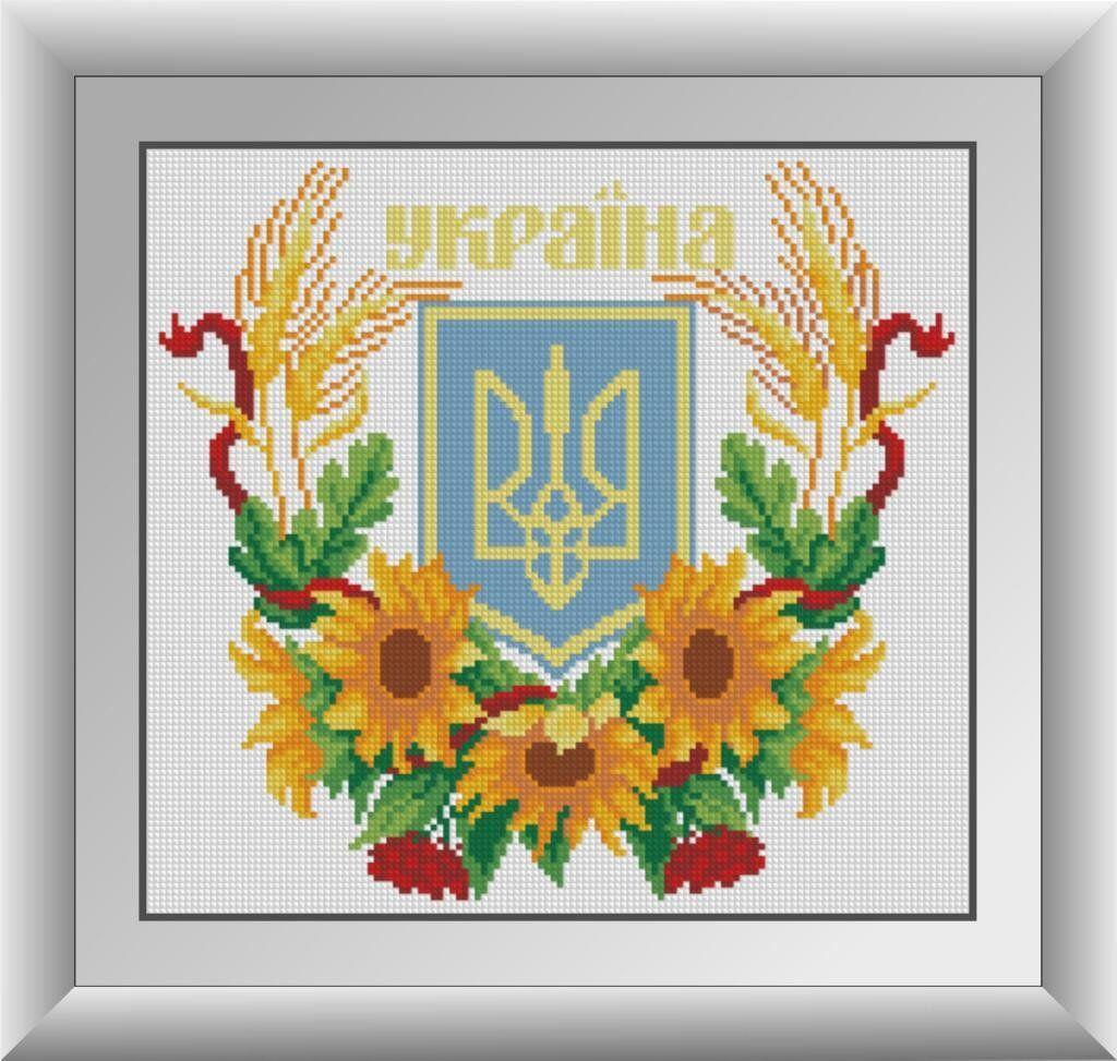30085 Набор алмазной мозаики Герб Украины 2