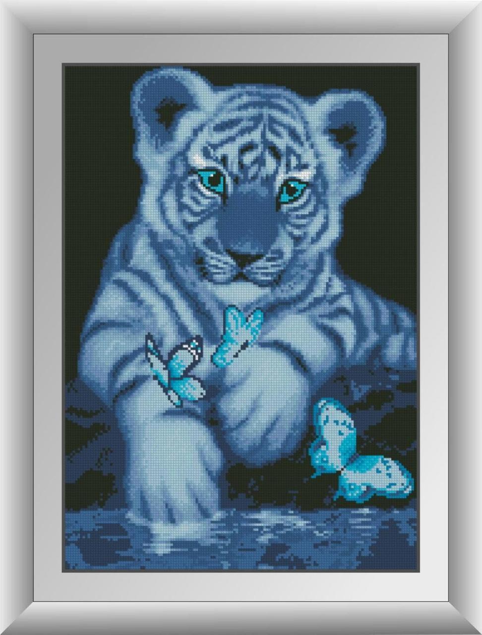 30099 Набор алмазной мозаики Белый тигренок