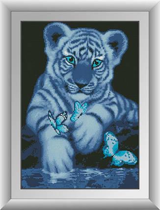 30099 Набор алмазной мозаики Белый тигренок, фото 2