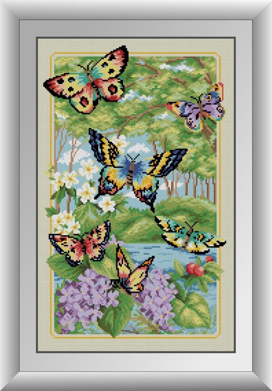 30120 Набор алмазной мозаики Лесные бабочки