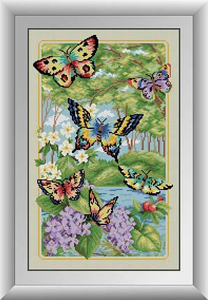 30120 Набор алмазной мозаики Лесные бабочки, фото 2
