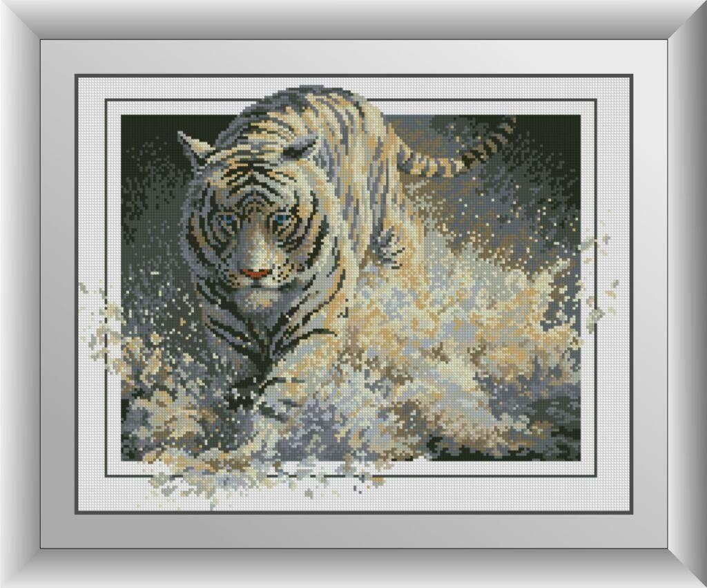 30123 Набор алмазной мозаики Белая молния. Тигр