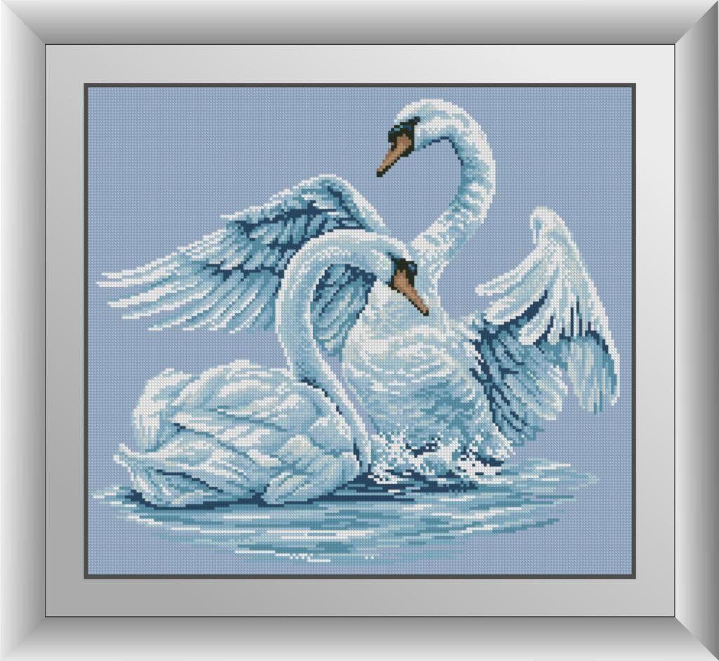 30126 Набор алмазной мозаики Лебединая верность