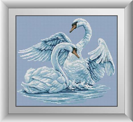 30126 Набор алмазной мозаики Лебединая верность, фото 2