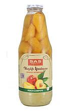 """Вірменський персиковий Компот """"SAS Product"""" 1л"""
