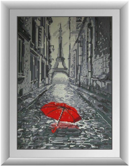 30130 Набор алмазной мозаики Дождь в Париже