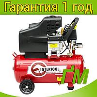 Компрессор INTERTOOL PT-0009 24 л, 1.5 кВт, 220 В, 8 атм, 206 л/мин.