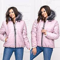 Женская короткая зимняя куртка размеры 48-54