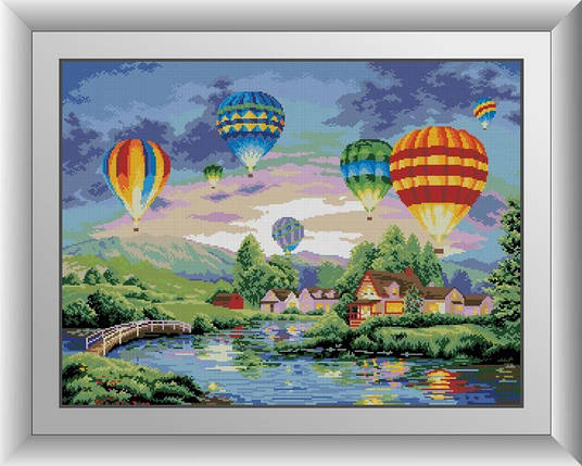 30157 Набор алмазной мозаики Воздушные шары, фото 2