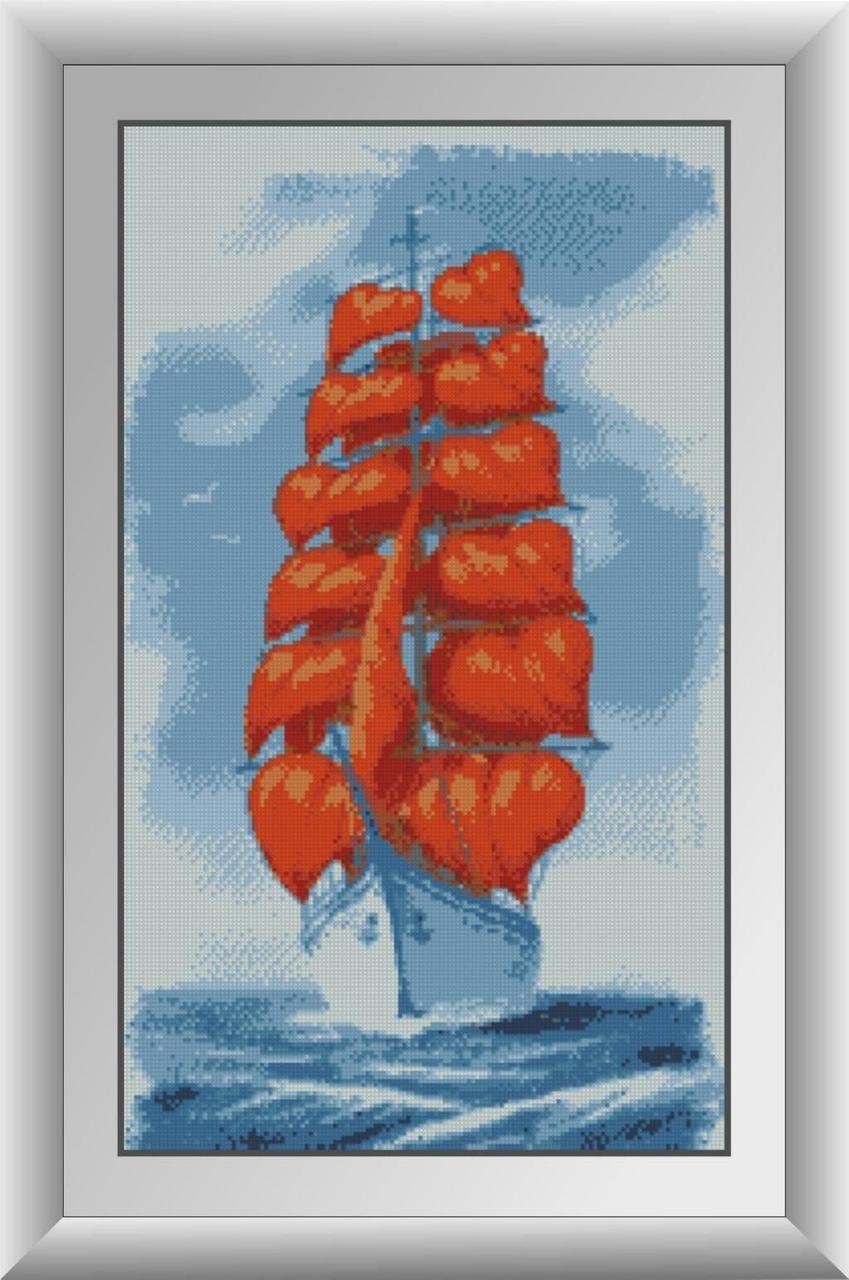 30158 Набор алмазной мозаики Корабль любви