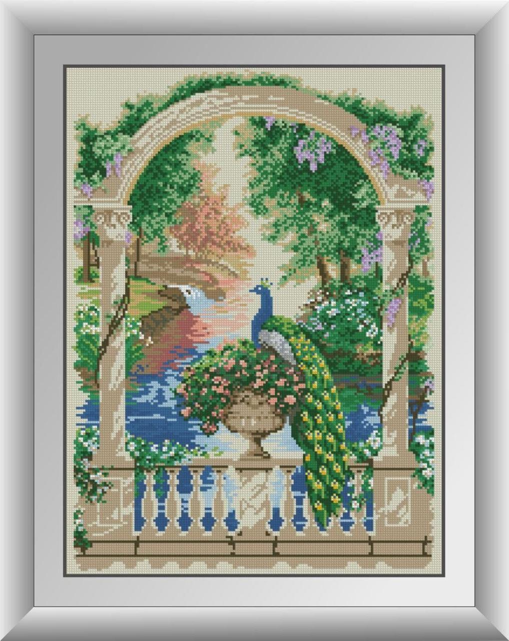 30159 Набор алмазной мозаики Павлин на балконе