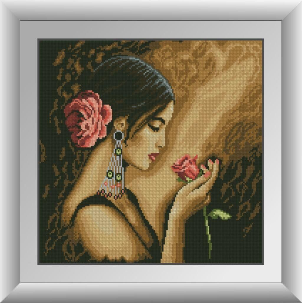 30168 Набор алмазной мозаики Испанка с цветком