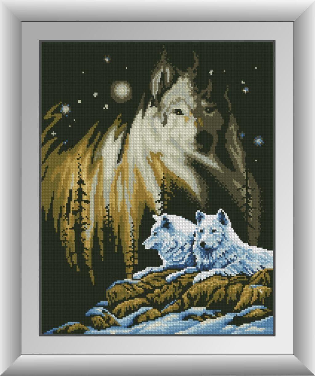 30173 Набор алмазной мозаики Белые волки