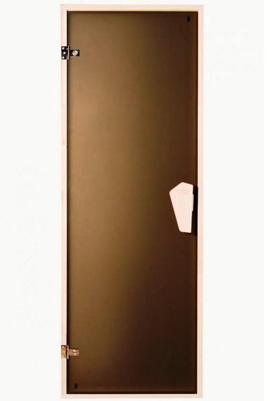 Дверь для сауны, бани Sateen (Матовая) 190*70