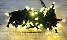 Гирлянда новогодняя Xmas 100 WW -  7 теплая БЕЛЫЙ цвет