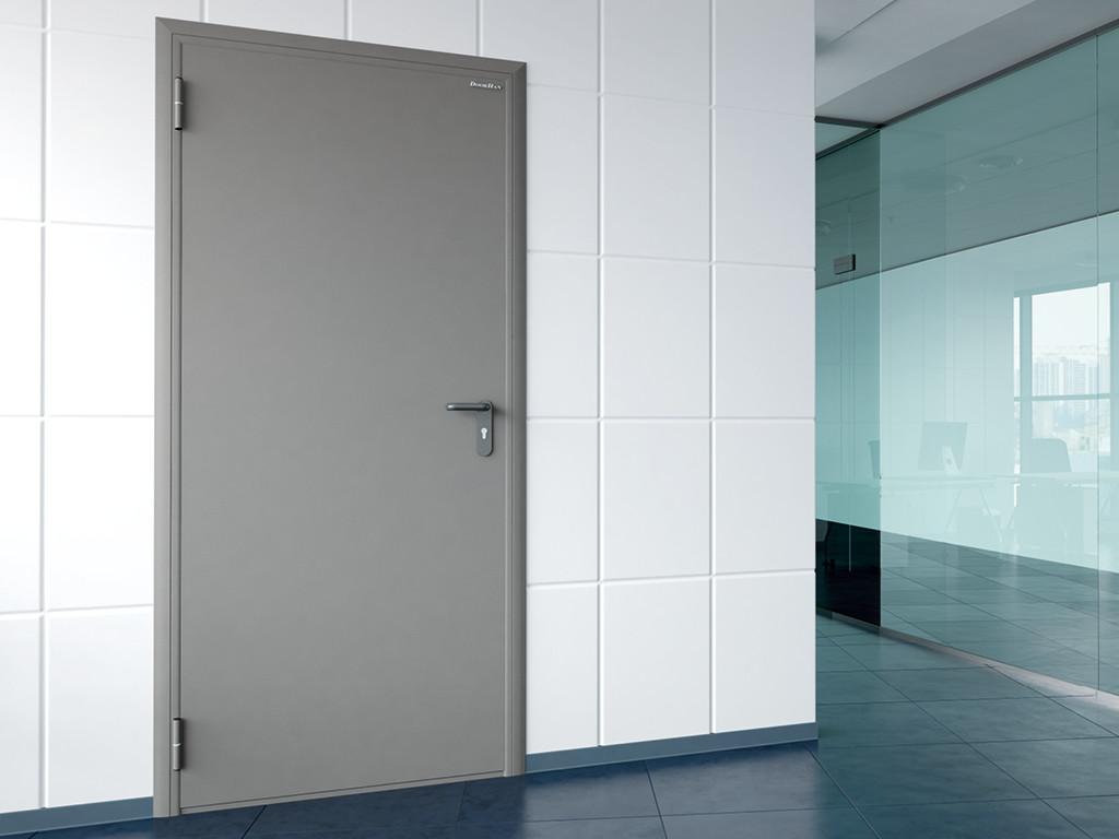 Двери противопожарные, глухие одностворчатые DoorHan  EI 60/1080/2050/ лев.