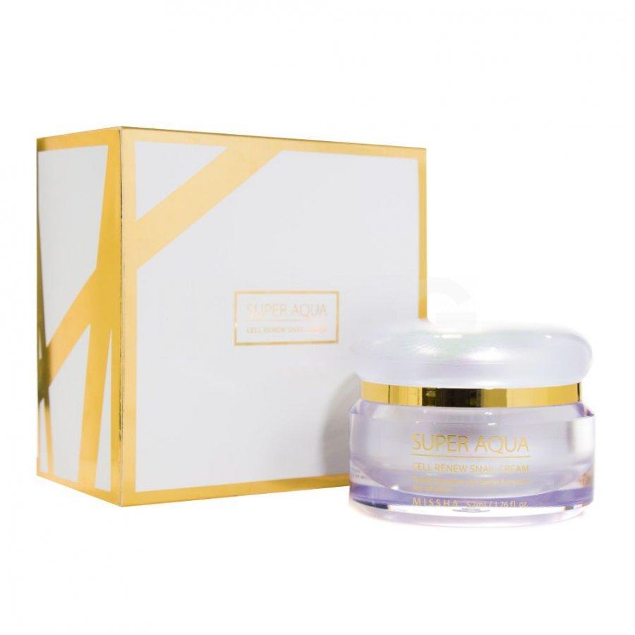 Крем для лица Missha Super Aqua Cell Renew Snail Cream с экстрактом улитки