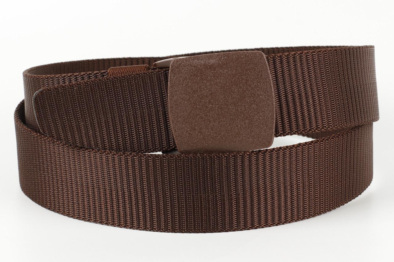 Ремень мужской унисекс джинсовый тканевый TIA 40 мм коричневый
