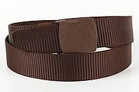 Ремень мужской унисекс джинсовый тканевый TIA 40 мм коричневый, фото 1