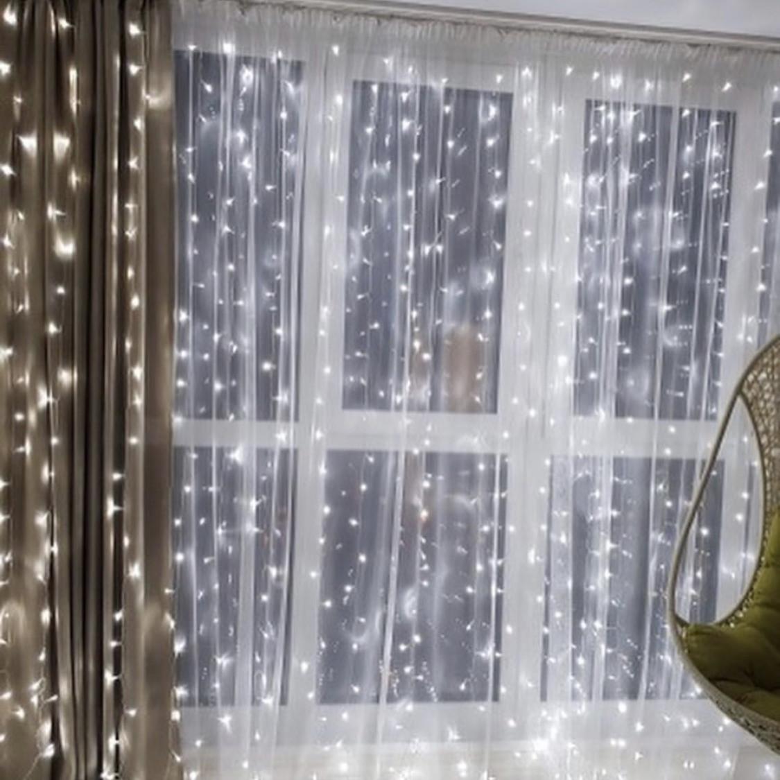 Гирлянда Водопад 3 м х 2,5 м, 720 LED (Штора, Занавес, Curtain lights)