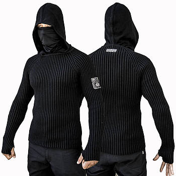 Свитер с капюшоном СТРЕЛОК (BLACK)