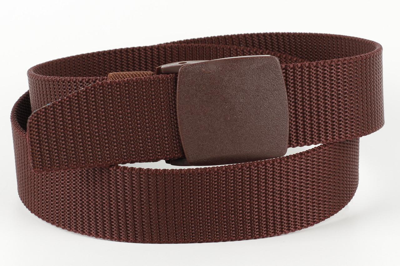 Ремень мужской унисекс джинсовый тканевый TIA 40 мм бордовый