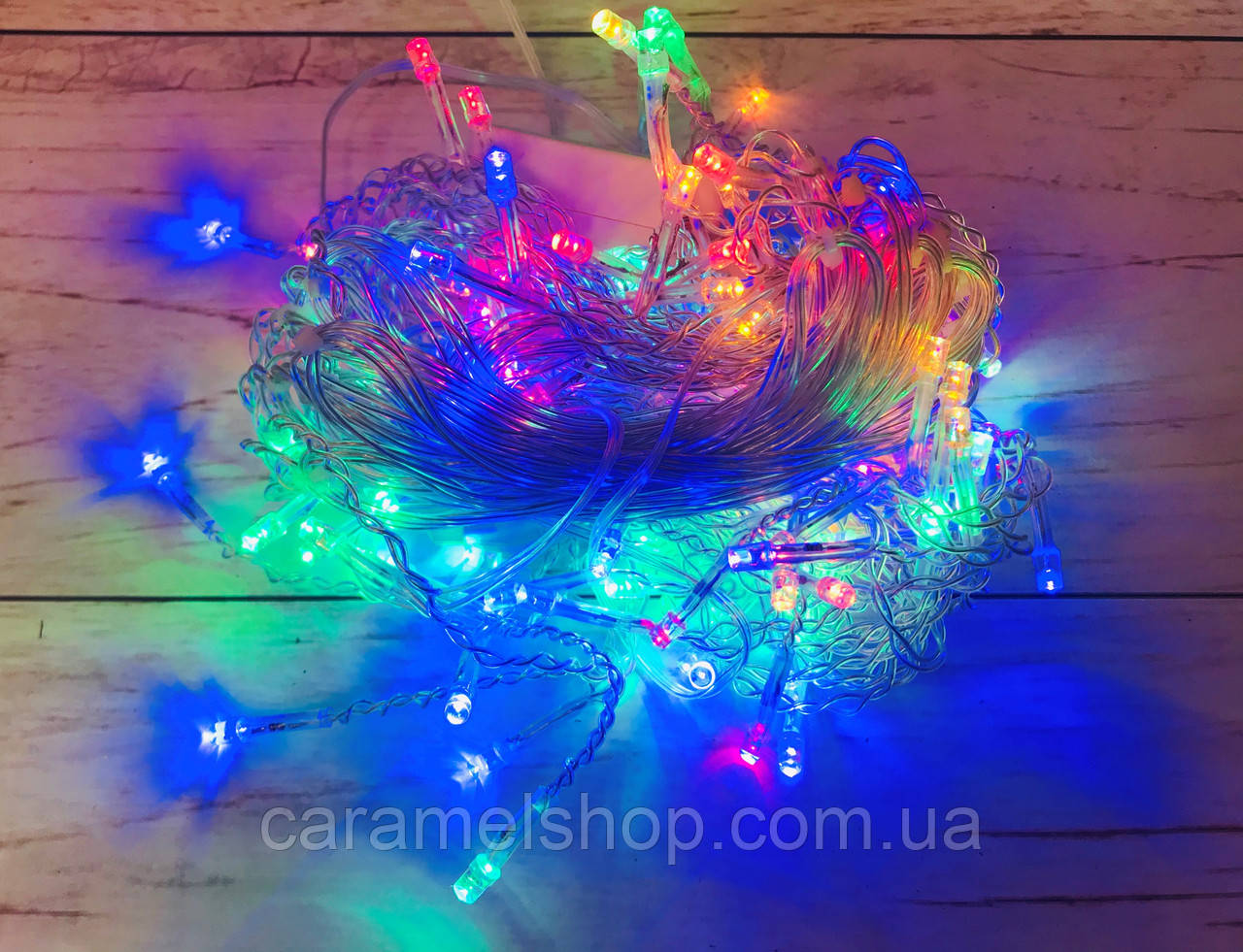 Гирлянда новогодняя Xmas 120PICM сетка мультицветная