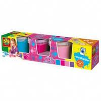 Пальчиковые краски Маленький художник 4 цвета в пластиковых баночках
