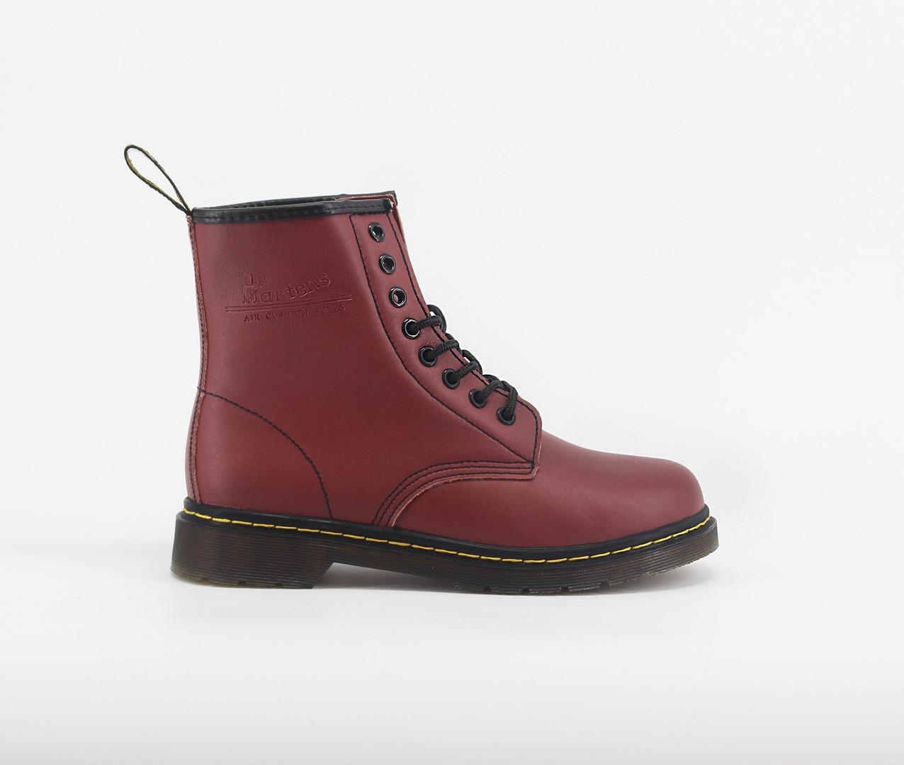 Женские ботинки Dr.Martens 1460 Cherry (Мех)