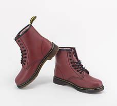 Женские ботинки Dr.Martens 1460 Cherry (Мех), фото 2