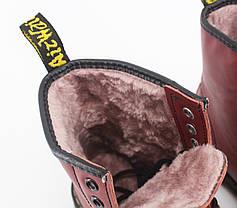 Женские ботинки Dr.Martens 1460 Cherry (Мех), фото 3