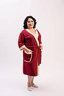 Трикотажный халат для женщин Plus Size