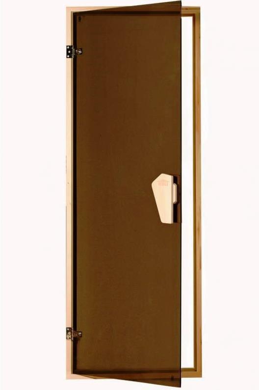 Дверь Sateen (матовая) 180*70 для сауны, бани  .