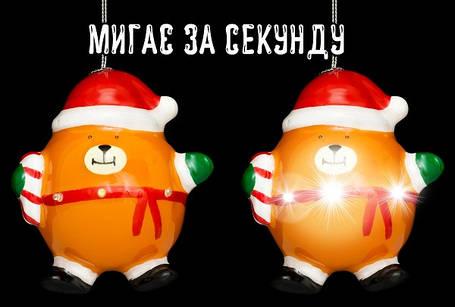 Украшение декоративное Шар LED, 11 см, Мишка, House of Seasons, фото 2