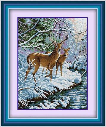 30180 Набор алмазной мозаики Олени, фото 2