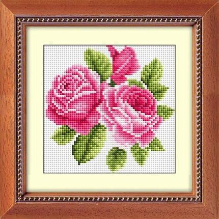 30182 Набор алмазной мозаики Букетик с розами, фото 2