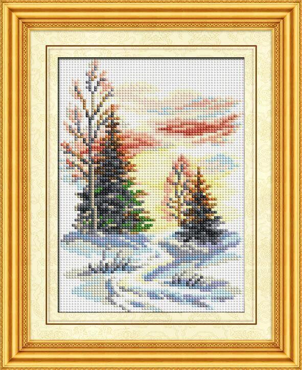 30187 Набор алмазной мозаики Зимний пейзаж