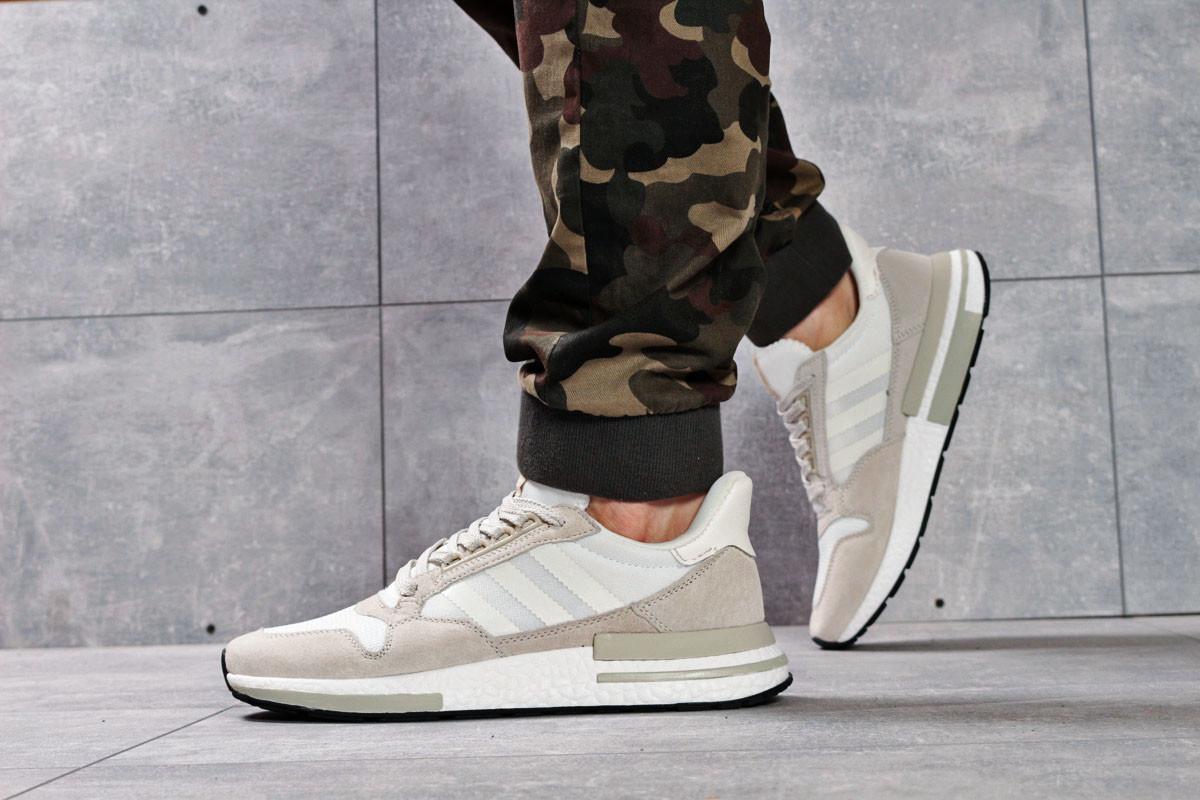 Кроссовки мужские 16182, Adidas, бежевые ( 44  )