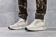Кроссовки мужские 16182, Adidas, бежевые ( 44  ), фото 2