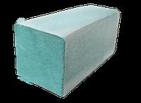 Бумажные полотенца зеленые V – образного сложения, для диспенсеров, 100% макулатура,160 шт. в уп.