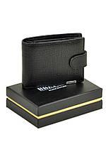 Чоловічий шкіряний гаманець Bretton Black Edition під рептилію