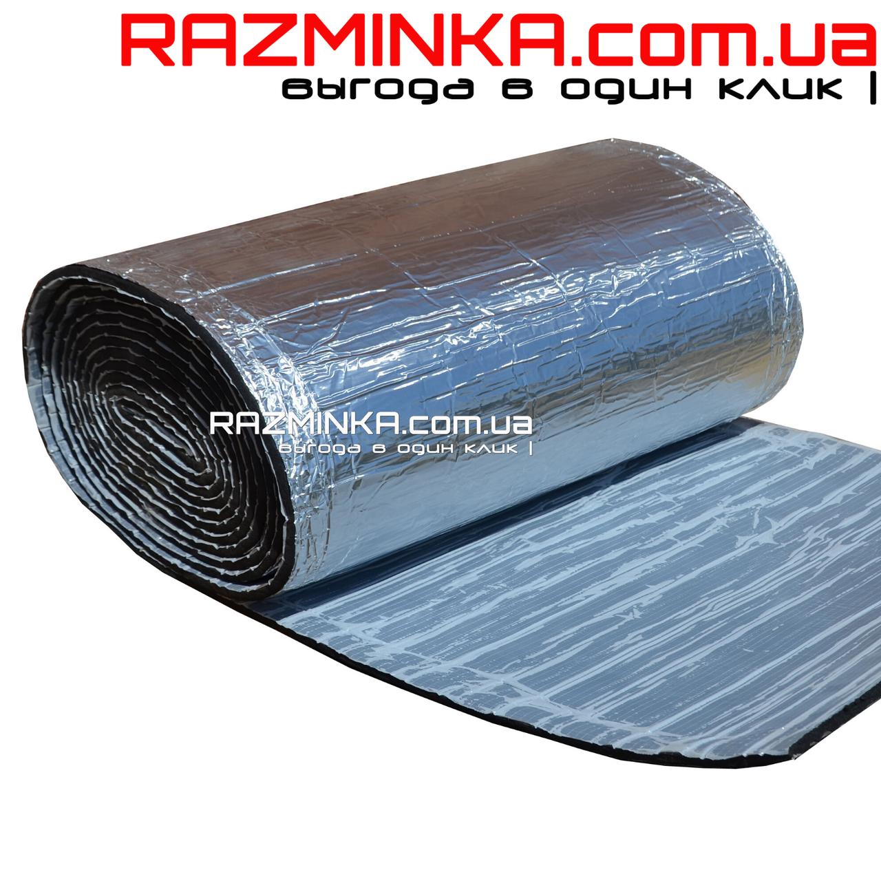 Вспененный каучук 25мм с фольгой и липким слоем